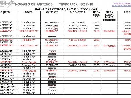 Horario de los partidos del 7 al 10 de junio