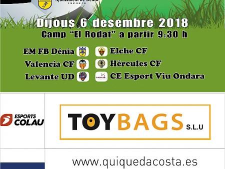 """El 6 de diciembre se disputa en el Rodat el Torneig de Nadal """"Ciutat de Dénia"""" de fútbol 8"""