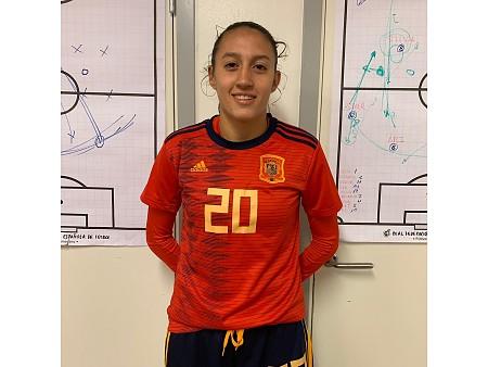 Fiamma Benitez en el torneig d'Exempts amb la selecció espanyola Sub-17 femenina